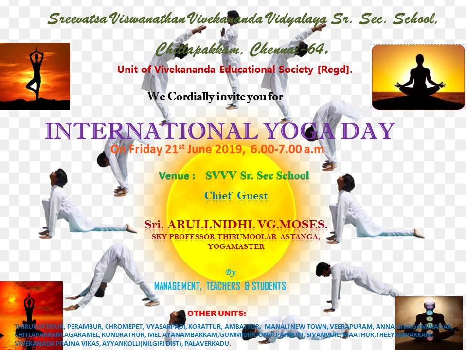 International yoga day invitation